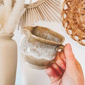 Vintage Handmade Earthy Pottery Creamer Boho Mug